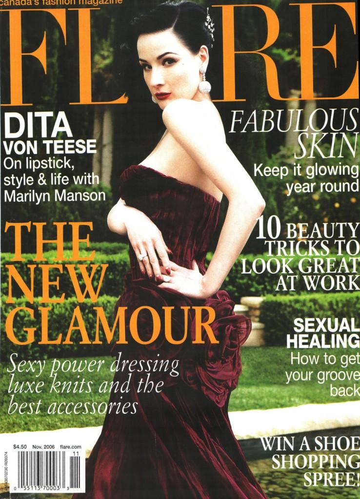 Flare Magazine Blonde-Aid Cover