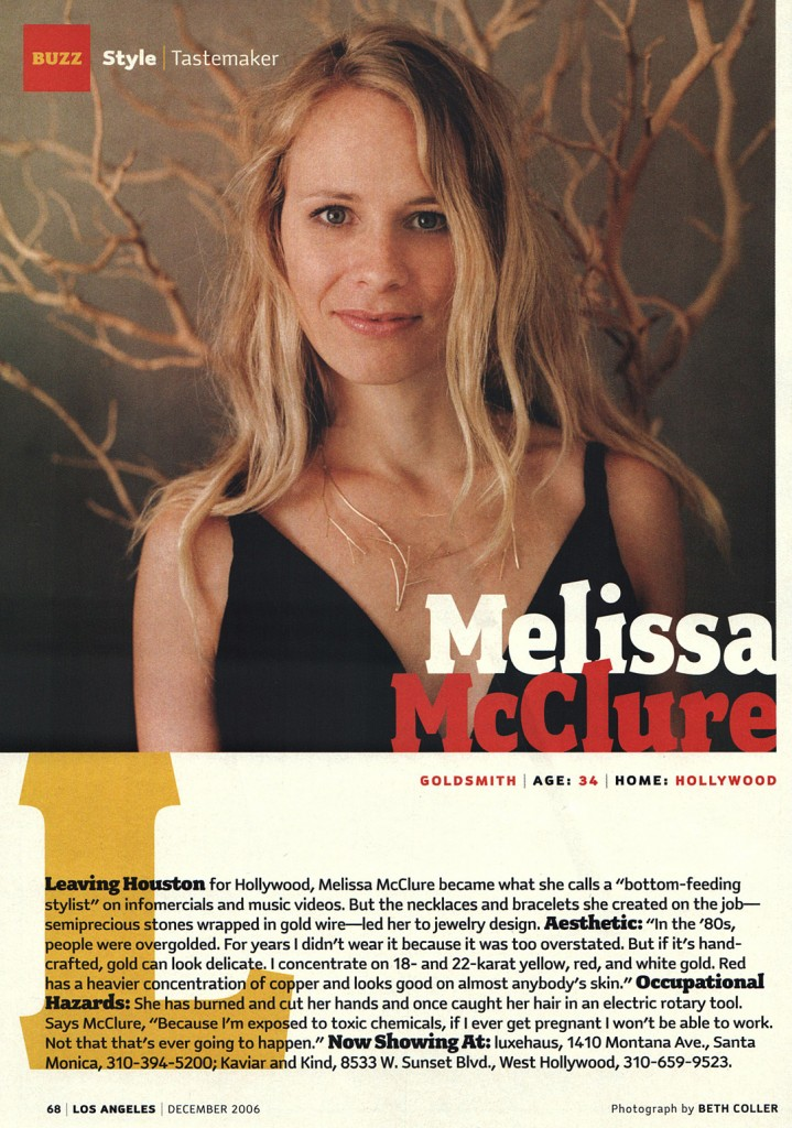 Los Angeles Magazine Luxehaus Melissa McClure