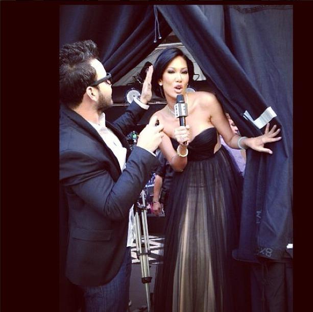 luxelab at The Glen Stylist Eric Garza for Kimora Lee's E! Oscars appearance