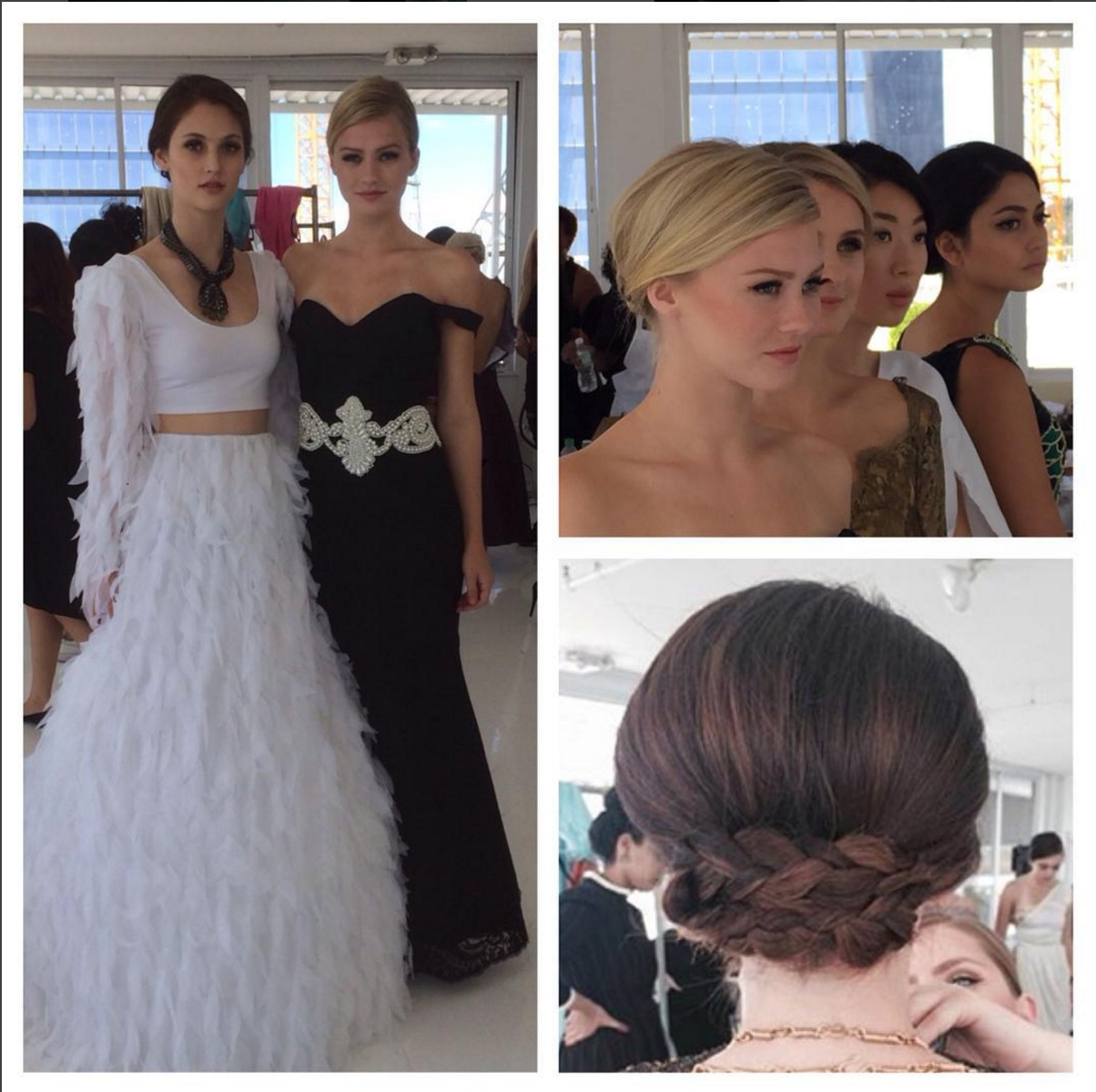 Another set of beautiful updos by luxelab stylists Jen Beckerman Alexander Maud and Beth Montgomery this time for the First Lady nyfw show. Lead hair Josie Sanchez and Amit Abraham for L'Oréal Professionnel.