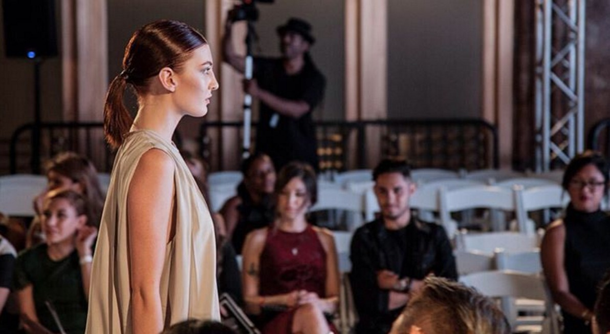 Down the runway they go for Mulierr LAFW show. Key Stylist Lauren Sill. Photo by EL3 Productions.