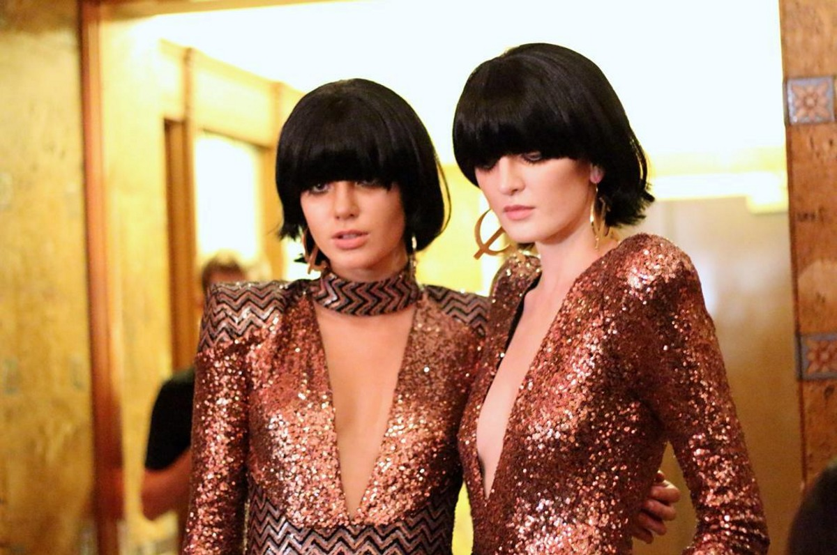 Glam rock inspired babes for the Zhivago LAFW show.  Key Stylist Lauren Sill. Photo by Liz Abrams.