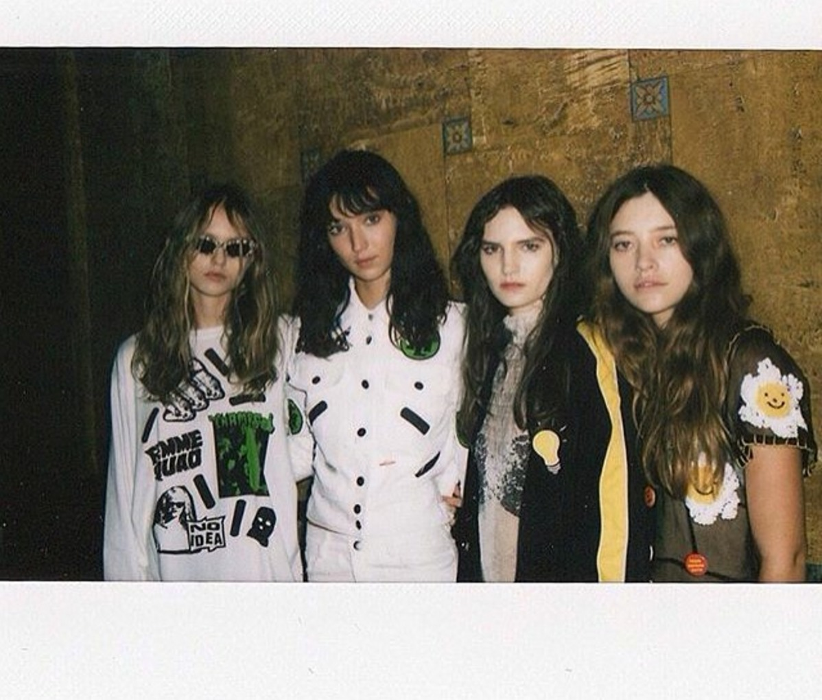Perfectly disheveled looks by Luxe Group Key Stylist Beth Montgomery for the Emma Mulholland LAFW show.