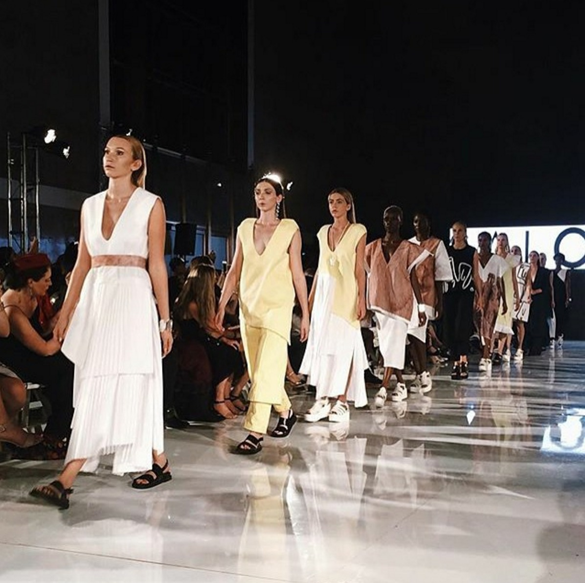 Contemporary beauties hitting the runway. Key Stylist Ozzie Morales for Salo Shayo.