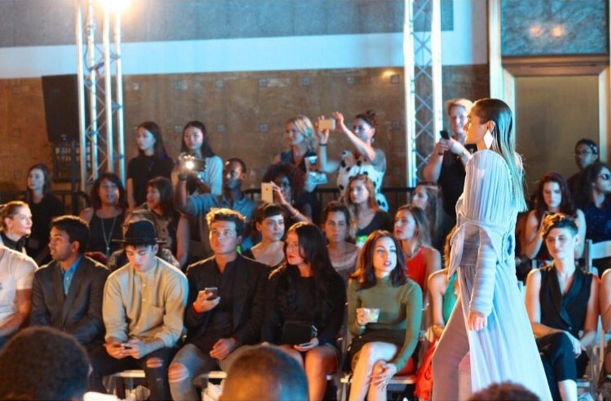 Futuristic fashion at the iimuahii LAFW show. Lead Hair by luxelab Mentor Stylist Craig Wcislo. Photo by Liz Abrams.