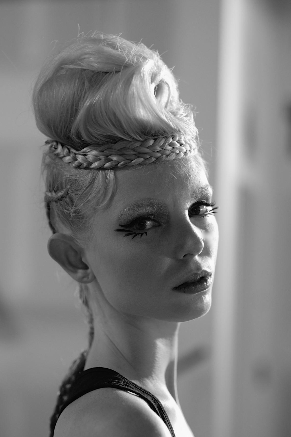 LAFW F/W16 Designer: George Styler Lead Hair: Luxelab Creative Director Lauren Sill Photo: Liz Abrams